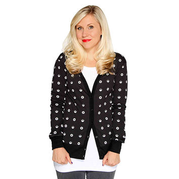 Star Wars Symbols Ladies' Cardigan - Black,