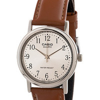 MTP-1095E-7BDFCasio Camel Leather Analog Watch