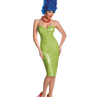 Simpsons Glam Marge With Wig Adult Womens Costume – Spirit Halloween