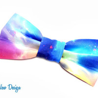Colorful Heavens  Bow Tie with Adjustable Strap