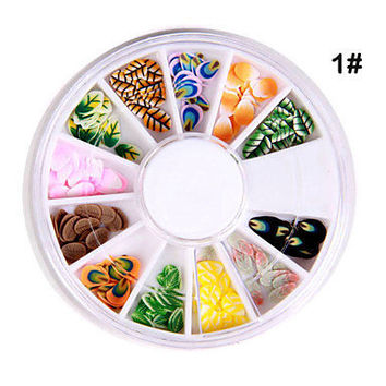 [US$ 1.99] 12x 3D Different Shaped Nail Art Decoration