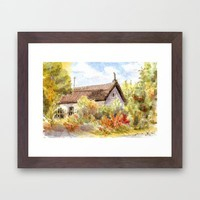 Old Farmer House in Hungary Framed Art Print by Vargamari | Society6