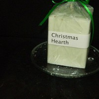 Christmas Hearth Scented Square Candle