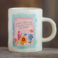 Count  My  Blessings  Ceramic  Mug  From  Natural  Life