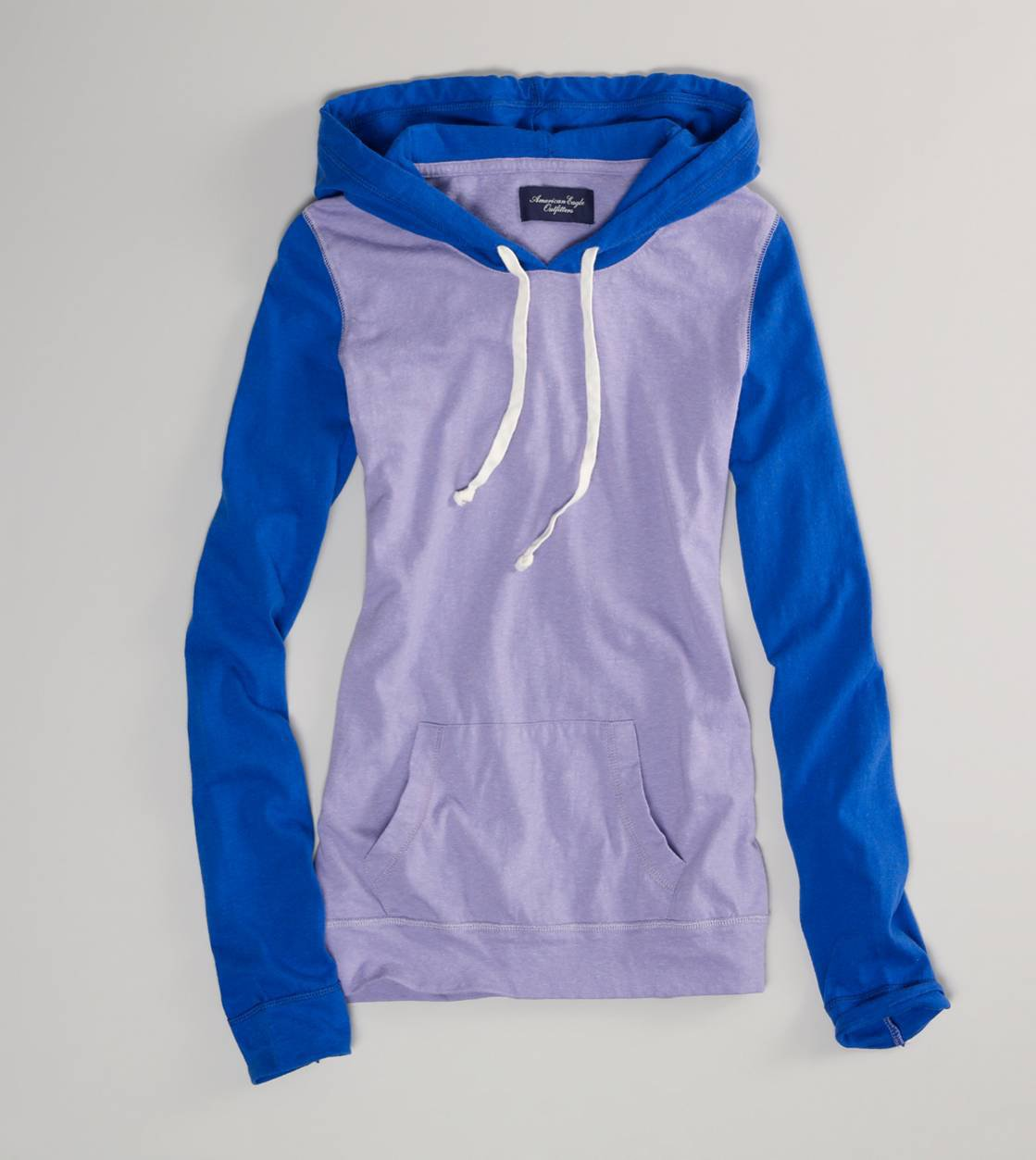AE Colorblock Hooded Popover | American Eagle Outfitters