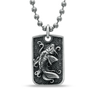 Room 101 Collection Koi Fish Dog Tag Pendant in Stainless Steel - 24
