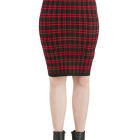 ModCloth 90s Mid-length Pencil Between You and Meeting Skirt