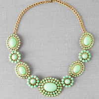 Libbey Statement Necklace in Mint