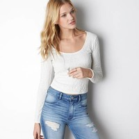 AEO SOFT & SEXY LACE BALLET T-SHIRT