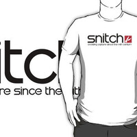 """Snitch x Swatch Logo Parody"" T-Shirt Design by FAMOUSAFTERDETH 