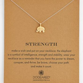 Women's Dogeared 'Reminder - Strength' Boxed Pendant Necklace