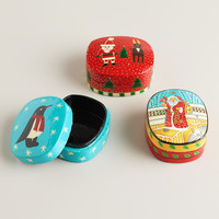 Hand-Painted Paper Mache Holiday Boxes, Set of 3 - World Market