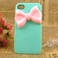 Unique Pink Bow IPhone Case IPhone .. on Luulla