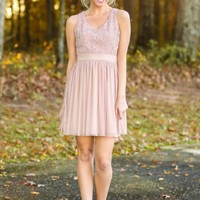 Ice Crystal Dreams Dress-Blush