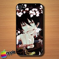Rin Ao No Exorcist Custom iPhone 4 or 4S Case Cover