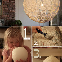 More Design Please - MoreDesignPlease - DIY DoilyLamp