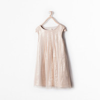 Sequinned tulle dress