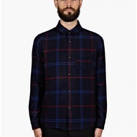 A.P.C. Men's Hunter Checked Flannel Wool Shirt