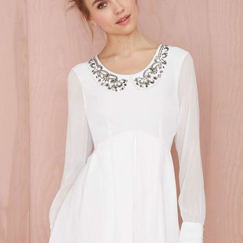 Nasty Gal Earth Angel Embroidered Dress