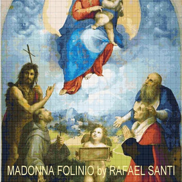 Instant Download Counted Cross Stitch Pattern Madonna Folinio Icon Mother of God Our Lady