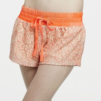 Coral Lace Boxers | Artistic Revolution in Time