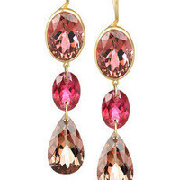 Marie-Hélène de Taillac | 22-karat gold multi-stone drop earrings | NET-A-PORTER.COM