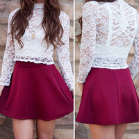 Christie Lace Top - White