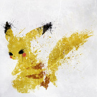 Pikachu Art Print by Melissa Smith | Society6