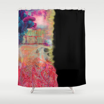 Good Overcoming The Bad Shower Curtain by Nikki Neri | Society6