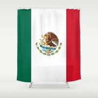 The National flag of Mexico (Officially the Flag of the United Mexican States)  Shower Curtain by LonestarDesigns2020 - Flags Designs +