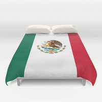 The National flag of Mexico (Officially the Flag of the United Mexican States)  Duvet Cover by LonestarDesigns2020 - Flags Designs +