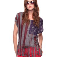 Flag Fringe Top