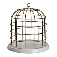 Twitable Gold Birdcage with Porcelain Base - A+R Store