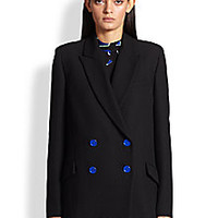 Proenza Schouler - Double-Breasted Crepe Jacket - Saks Fifth Avenue Mobile