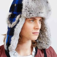 Mad Bomber Blue Buffalo Faux Fur Hat- Blue
