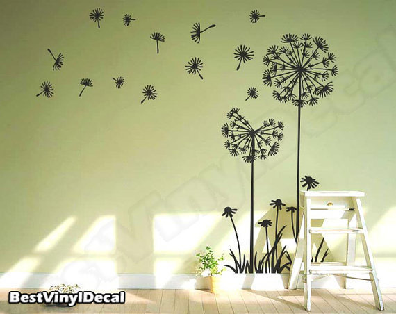 Vinyl Wall Decal Nature Design Tree Wall Decals Wall stickers Nursery wall decal wall art- Dandelions