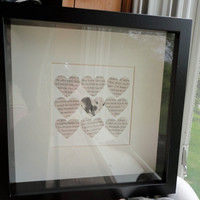 Quidditch Shadowbox Made From Real Harry Potter Book Pages