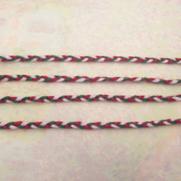 Four Christmas Friendship Bracelets - Braided