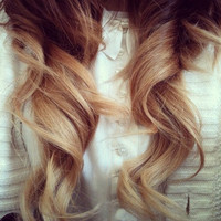 Classic OMBRE Dyed Hair //  Deluxe FULL SET Extensions // Clip-In // Human Hair