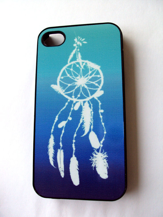 Dreamcatcher iPhone 4 / 4S Case Blue and White