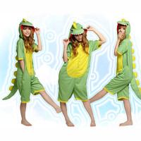 Green Yellow Pattern Cotton Kigurumi Costume Animal Pajamas Disney Fancy Dress Costumes [C20120724] - £29.31 : Zentai, Sexy Lingerie, Zentai Suit, Chemise
