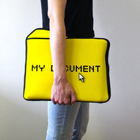 ThinkGeek :: My Documents Laptop Sleeve