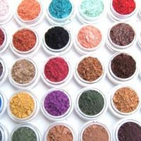 Eye Shadow Mineral Makeup - Choose Your Own - 5 Eye Colors - Eyeshadow/Eyeliner - Hand Crafted and All Natural- Makeup