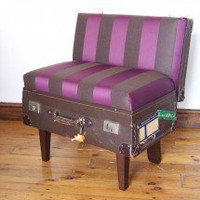 The Suitcase Chair ? purple stripe ? Seating ? Recreate