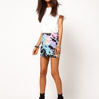 ASOS Mini Skirt in Tie Dye at asos.com