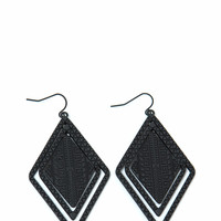 Tribal Dimension Layered Earrings