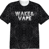 Wake&Vape Leopard Print T-Shirt created by OCDesigns_Products | Print All Over Me