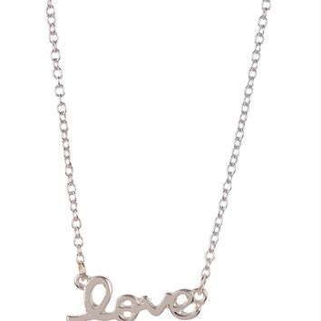 Butter Jewelry Delicates Love Script Necklace