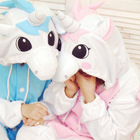 Animal Pajamas KIGURUMI Adult PINK/BLUE UNICORN pyjamas.Onesuit/sleepwear