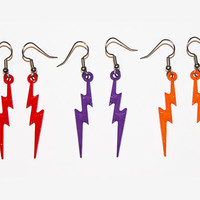 3 Pairs Of Lightning Bolt Earrings, Lightning Jewelry, Thunder Bolt Earrings (HOLIDAY SPECIAL)